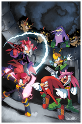 Knuckles: Endangered Species #1 Cover by Drawloverlala