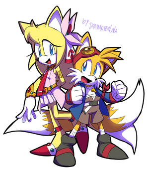 Zoey and Tails cosplaying