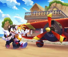 :COMM: Scootz and tails