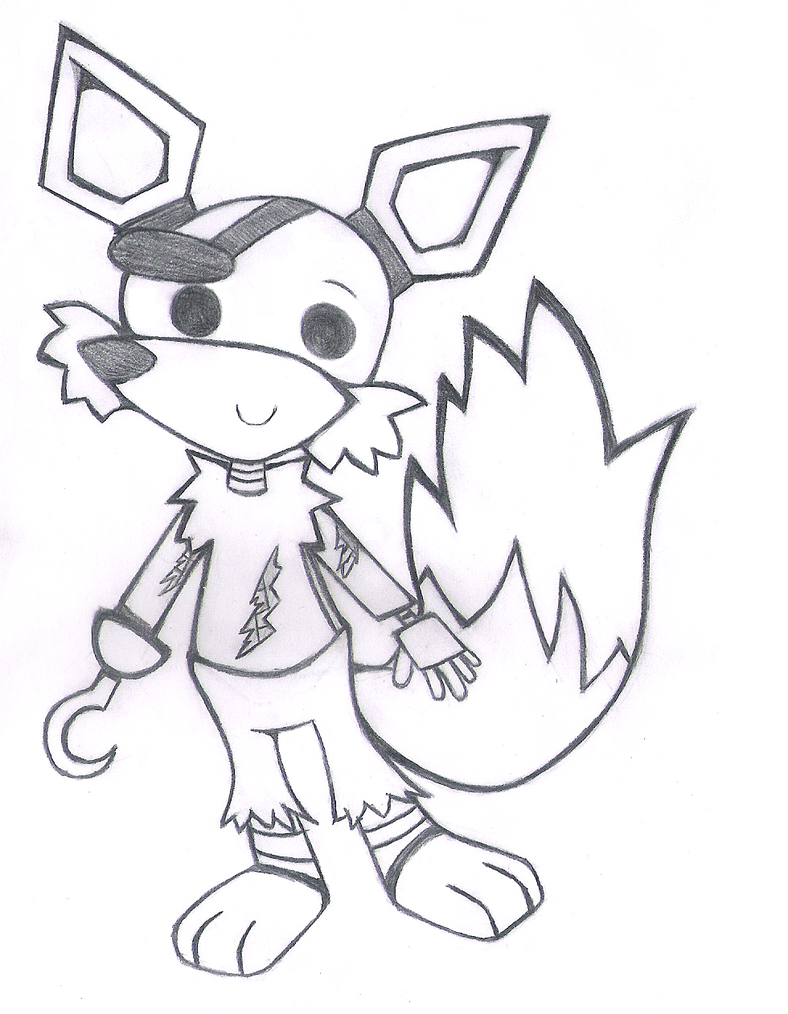 foxy the pirate coloring pages - photo#19