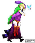 Ravio and Link - Piggyback Ride