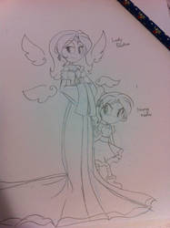 Lady Paluthai and Child Xiata by angelchibivocaloid