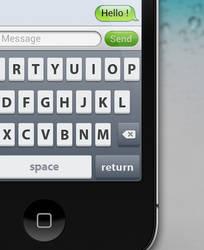 iPhone Keyboard Mockup by Vincee095