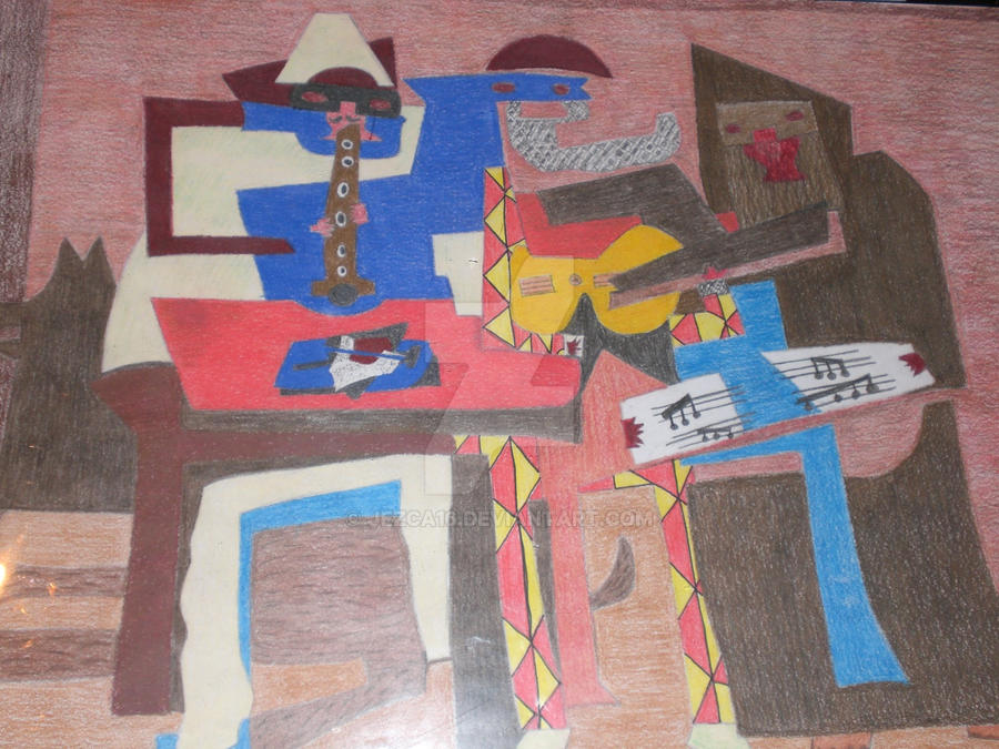 Three Musicians By Pablo Picasso Recreated By Me By Jezca16 On Deviantart