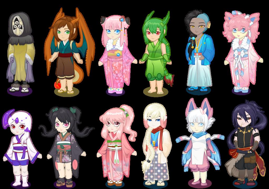 Pokimono Hatsumode Dolls 2015 by HoiGao