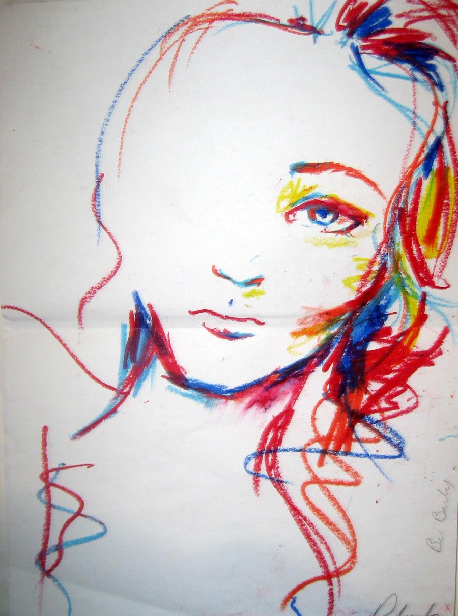 Simple Pastel Drawings