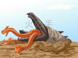 Whoa, Worm Monster by Dinosaur-Ryuzako
