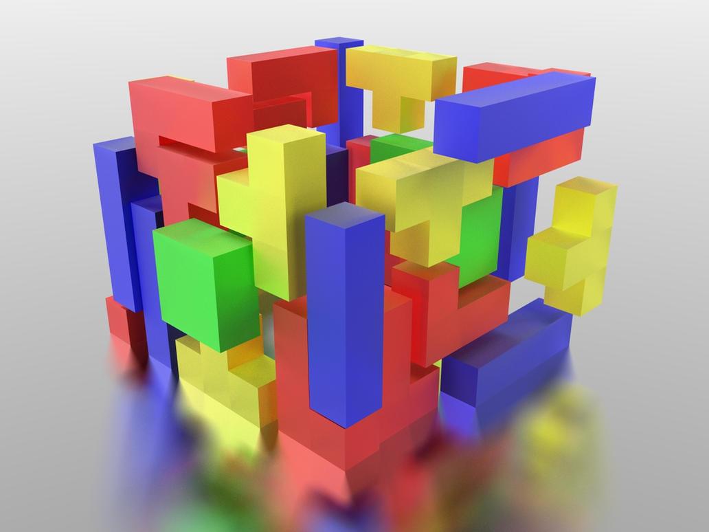 3D Tetris_Colorful by BCBomb47