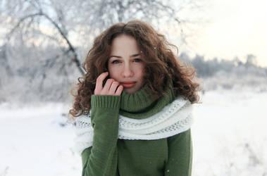 Her portrait by polyaray