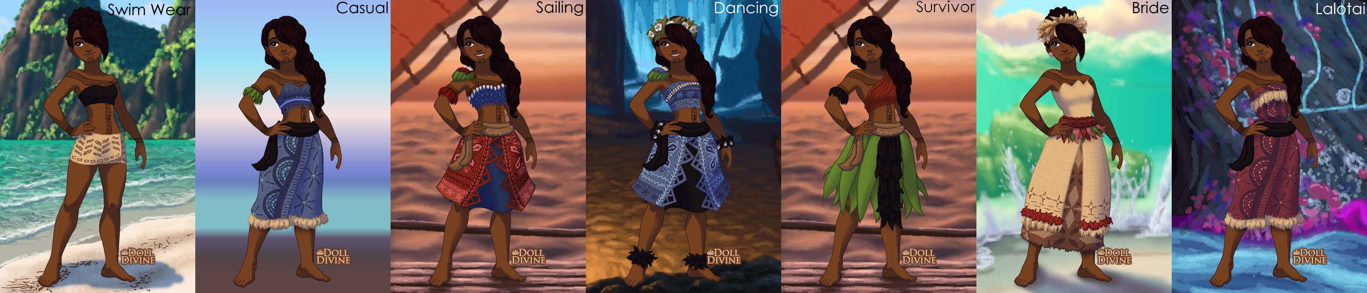 Moana OC Natia With Outfits By XxLyraTheCatxX