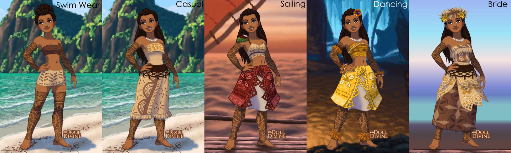 Moana OC Samaria With Outfits By XxLyraTheCatxX