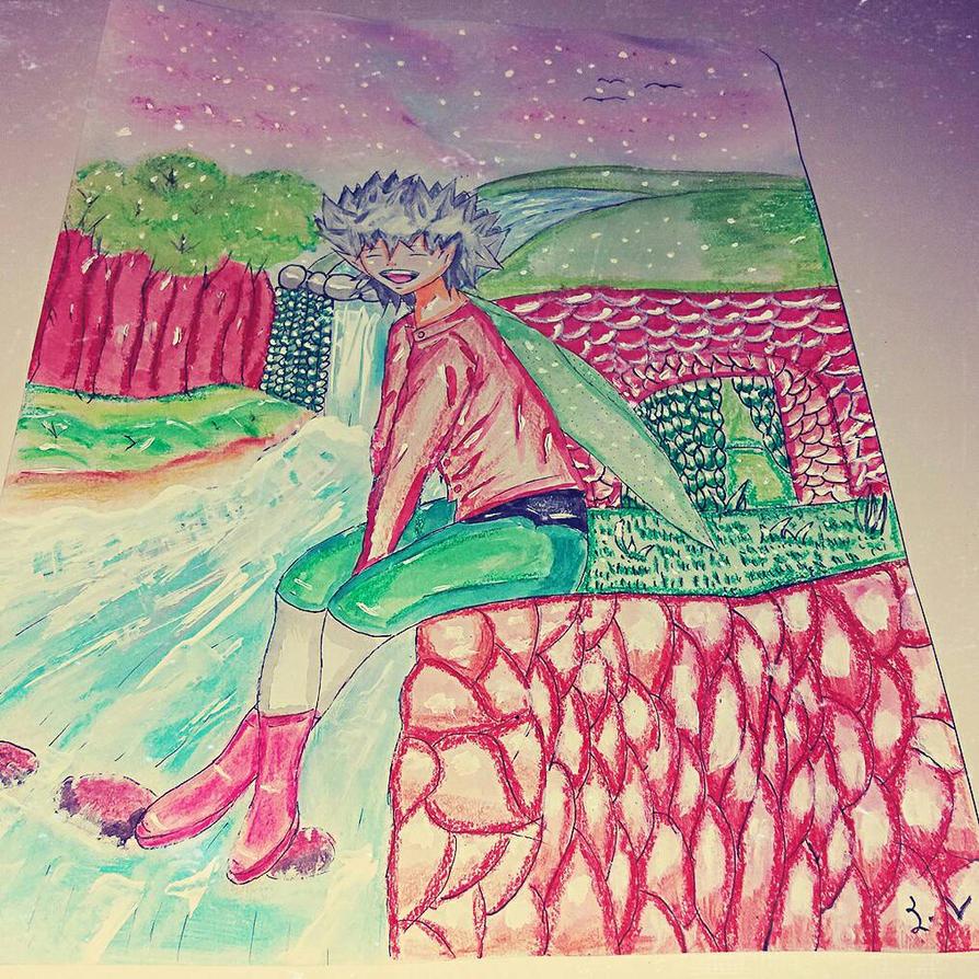 my oc and landscape  by sofiavalvi