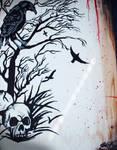 acrylic crow painting...