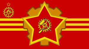 Steampunk Soviet Flag
