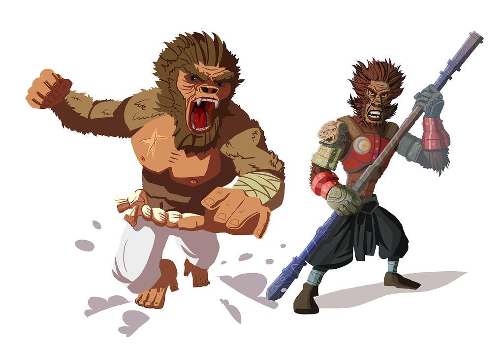 Monkey Warriors by MooonRiver