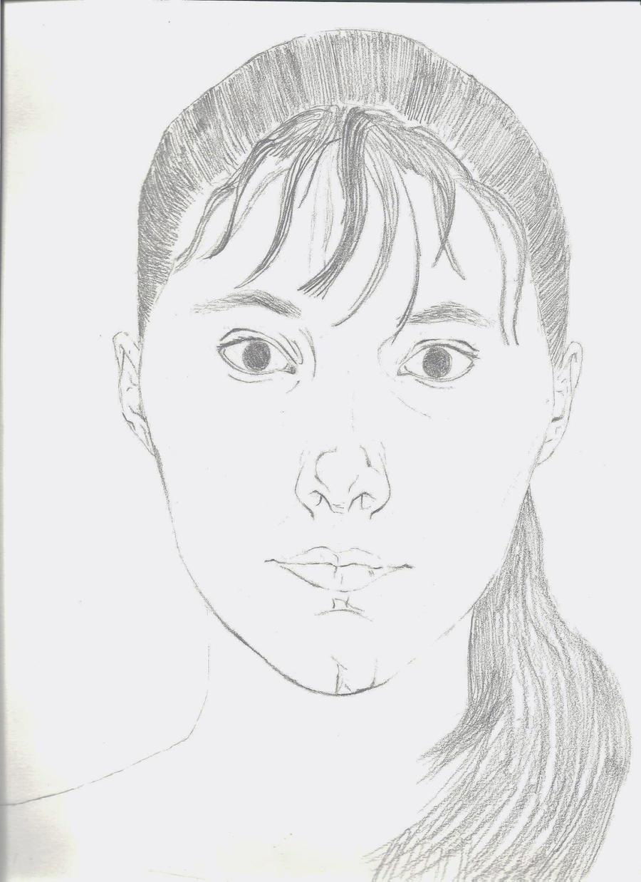 Contour Line Drawing Self Portrait : Contour line self portrait by charmedandstrange on deviantart