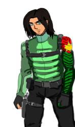 AoT Eren Marleyan Winter soldier by MMDuser23