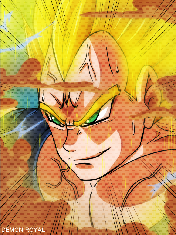 Majin vegeta by DemonRoyal