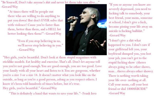 gerard way quotes. Gerard Way Quotes Wallpaper by