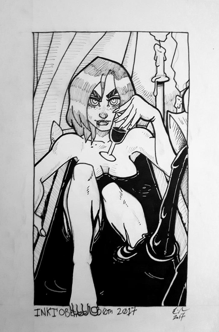 #Inktober 2017 day 30: Elisabeta by ZombieErnie