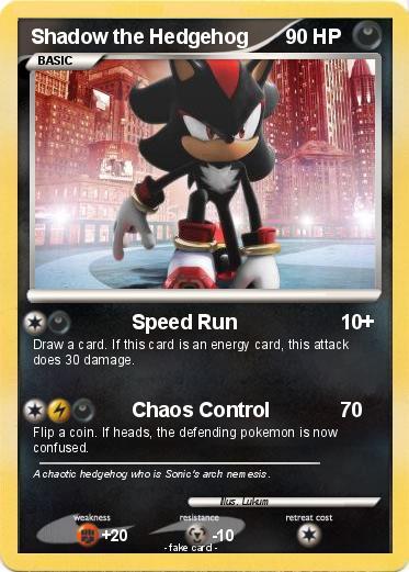 Shadow the Hedgehog pokemon card by Lukum