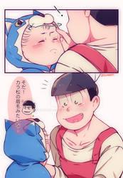 Kazuo to Mama!Oso_KaraOso AU