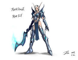 bloodelf deathknight by Dio-Dong