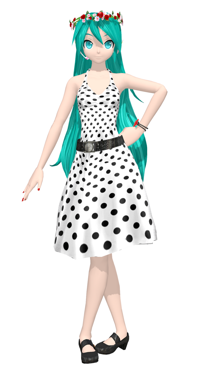 .:Rockabilly Dress Miku:. by PiettraMarinetta