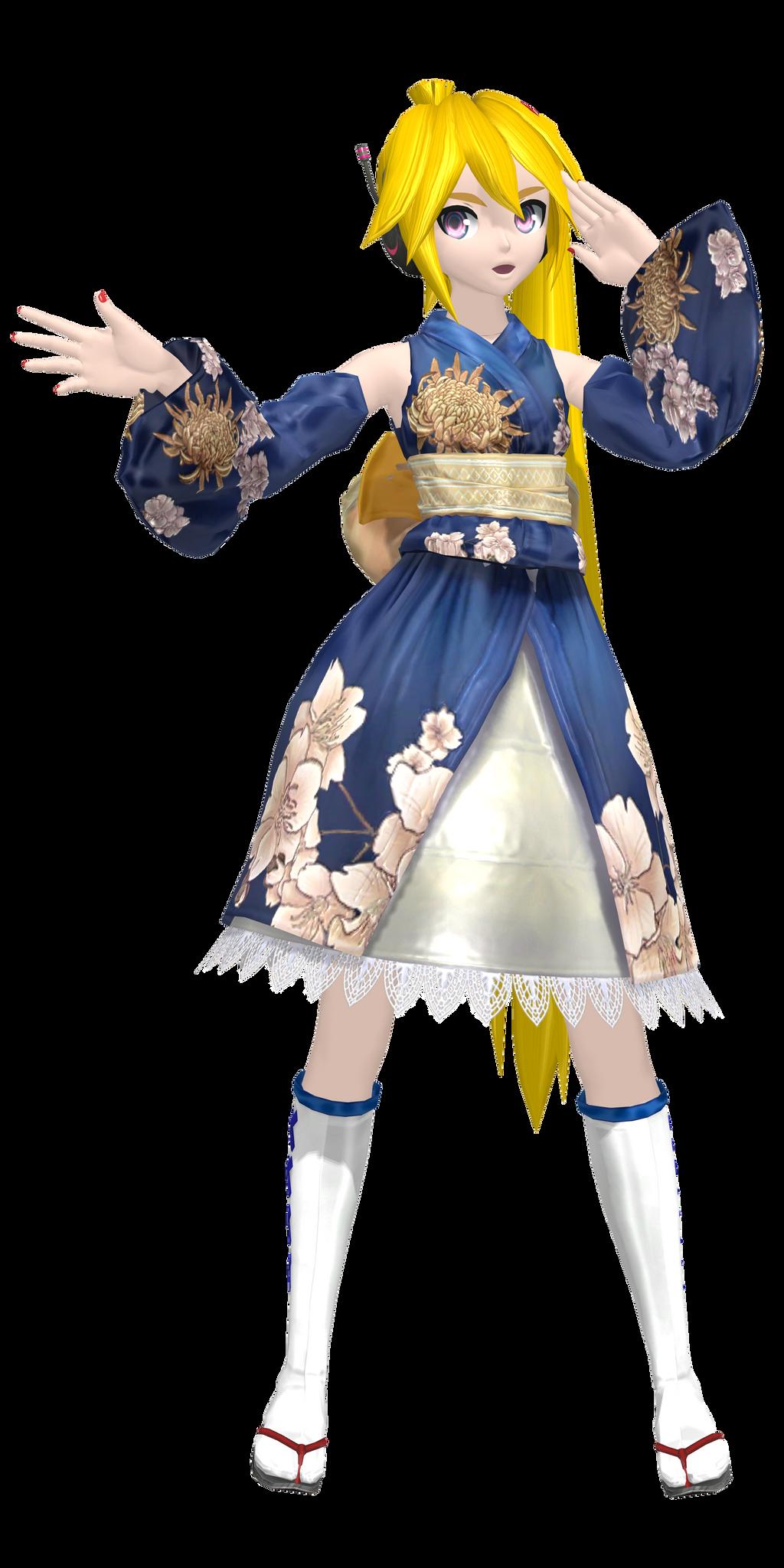 [DT] .:Kimono Flower Neru:. by PiettraMarinetta