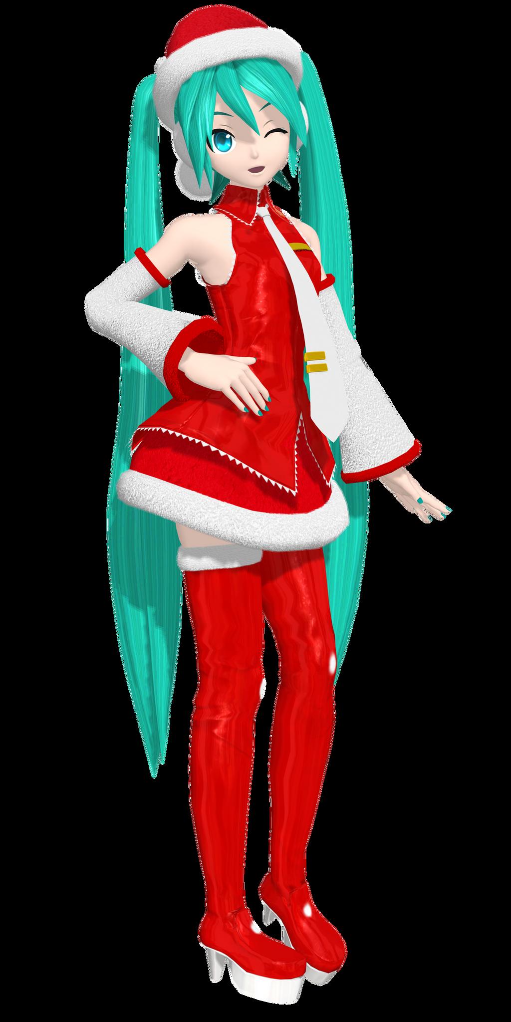 [DTExtend] .:Christmas Miku: by PiettraMarinetta