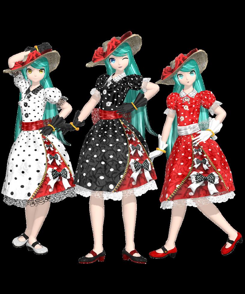[Dreamy Theater] .: Polkadots Dress Miku :. by PiettraMarinetta