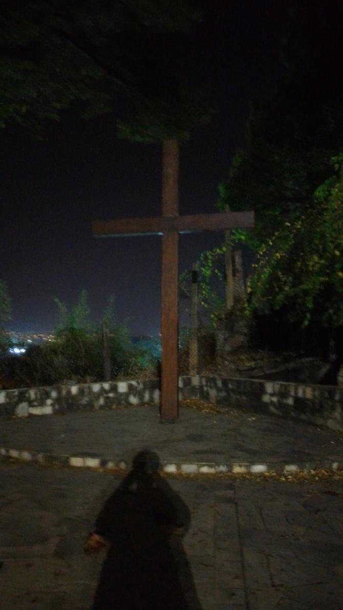 Empty Cross in the Night by zalere