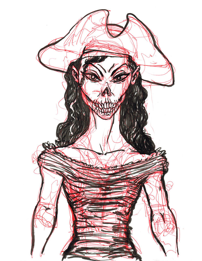Zombie Pirate Captain by heidel