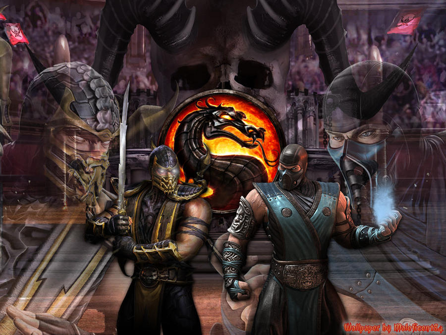 scorpion vs sub zero wallpaper. mk9 sub zero vs scorpion.