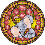 Dumbo Stained Glass