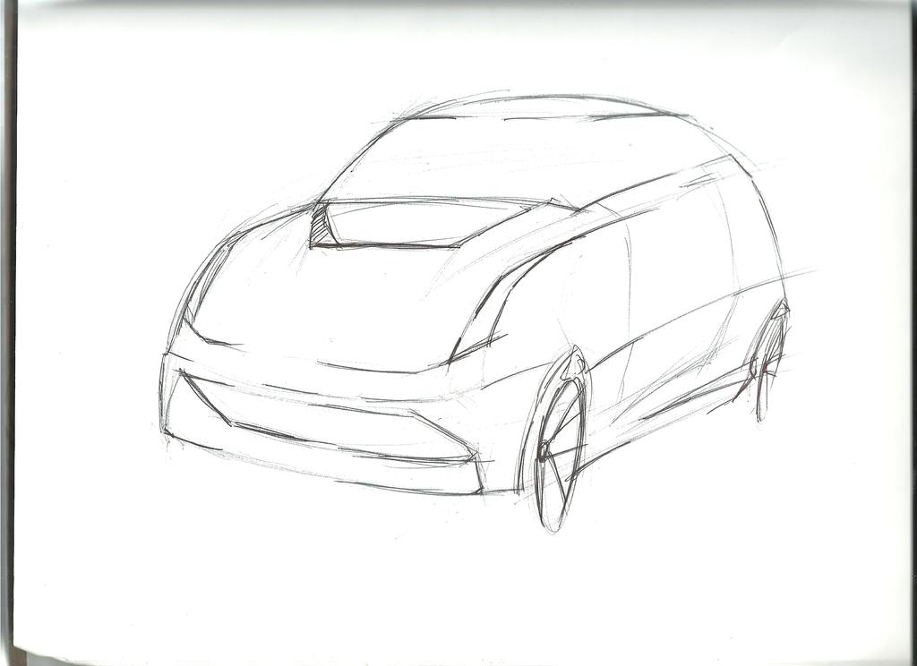 Small Hatchback Drawing by cjlashawn