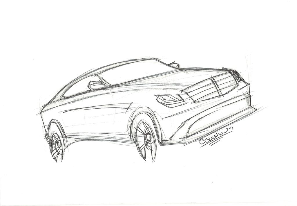 Mercedes benz sketch by cjlashawn