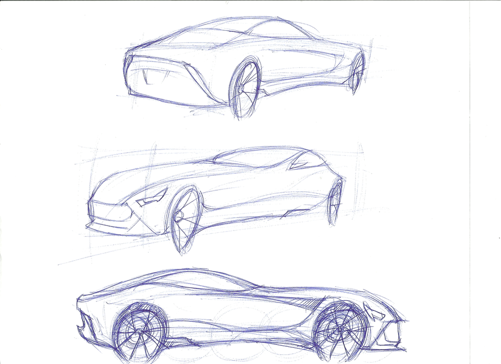 car perspective sketches by cjlashawn