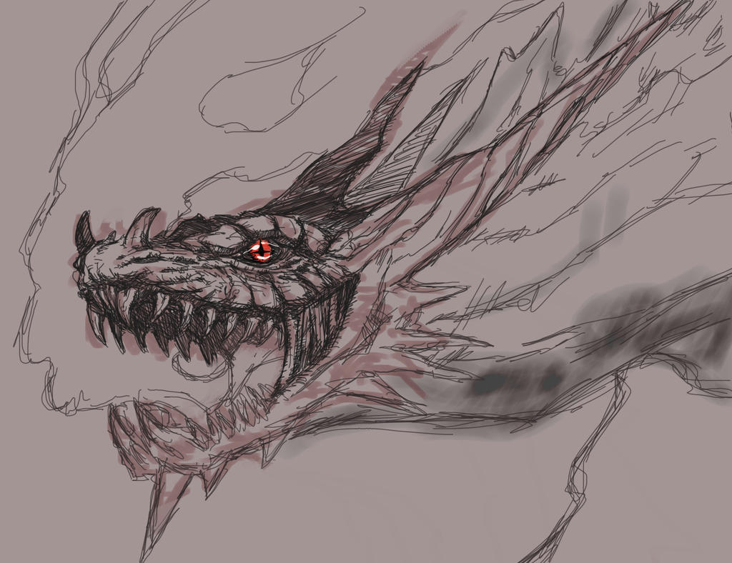 Sketch: Mad Dragon Nidhogg by TheIvoryFalcon on DeviantArt