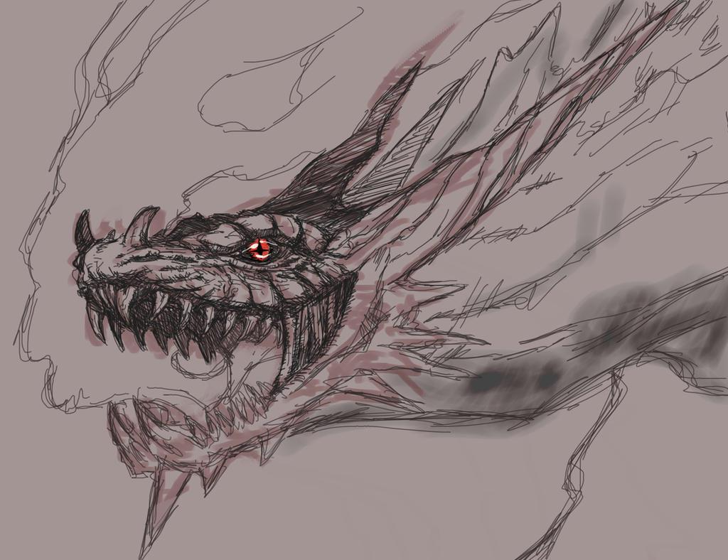 Sketch: Mad Dragon Nidhogg by TheIvoryFalcon on DeviantArt