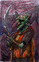Goblin sketch (color test) by TheIvoryFalcon