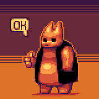 Pixel doodle: Thumbs up by TheIvoryFalcon