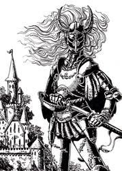 Nameless Knight by TheIvoryFalcon