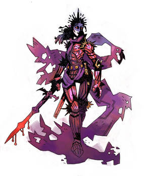 commission-vampire knightess
