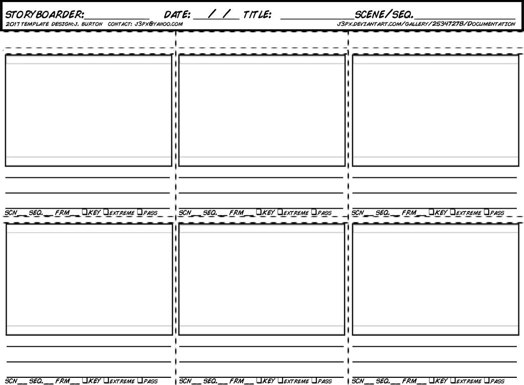 New storyboard template for 2017 by jeburton on deviantart for Film storyboard template word