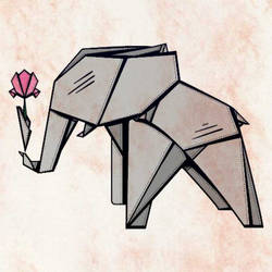 Origami Elephant by Emilz-the-Half-Demon