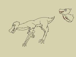 Deer hawk monster by TheFanArtist2