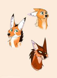 Random Maned Wolf Doodles! by AzureTheCat808