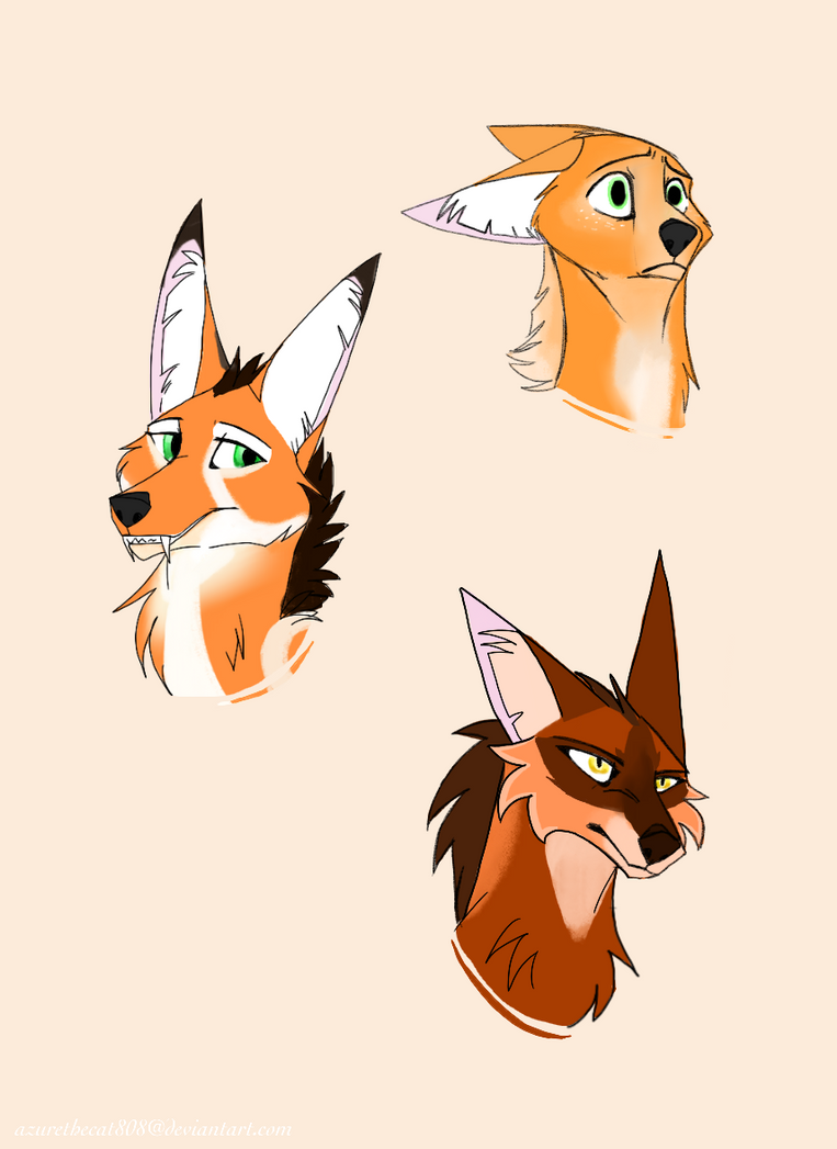Random Maned Wolf Doodles! by AzureTheCat808