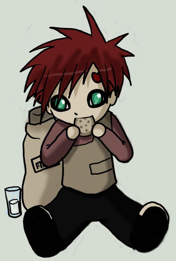Chibi Gaara Eating A Cookie by LinkSketchit on DeviantArt
